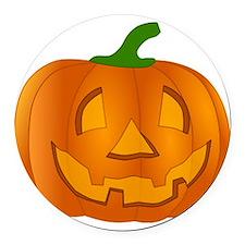 Halloween Jack-o-Lantern Pumpkin Round Car Magnet