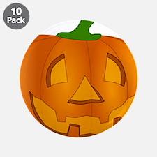 "Halloween Jack-o-Lantern Pumpkin 3.5"" Button (10 p"