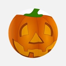 "Halloween Jack-o-Lantern Pumpkin 3.5"" Button"