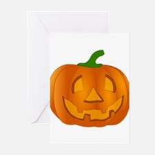 Halloween Jack-o-Lantern Pumpkin Greeting Cards