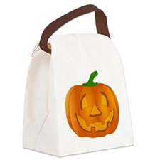 Halloween Jack-o-Lantern Pumpkin Canvas Lunch Bag
