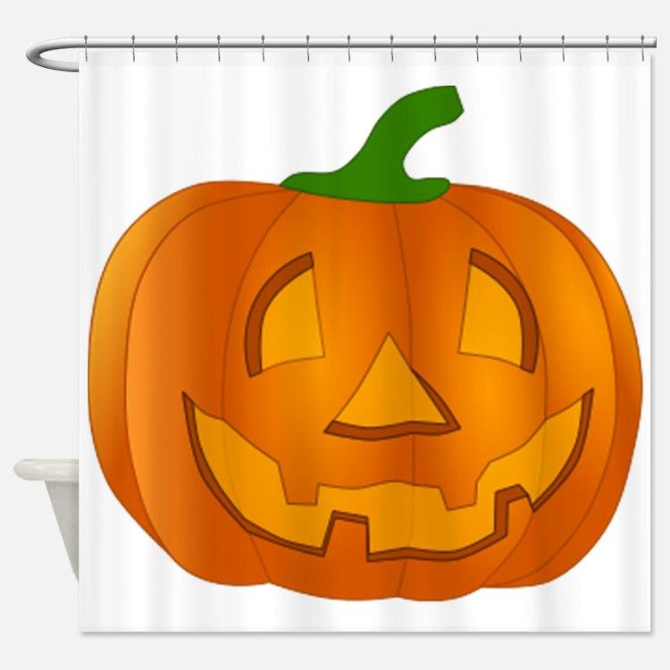 Halloween Jack-o-Lantern Pumpkin Shower Curtain