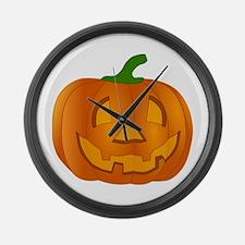Halloween Jack-o-Lantern Pumpkin Large Wall Clock