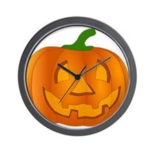 Halloween Jack-o-Lantern Pumpkin Wall Clock