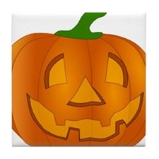 Halloween Jack-o-Lantern Pumpkin Tile Coaster