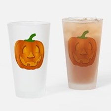 Halloween Jack-o-Lantern Pumpkin Drinking Glass