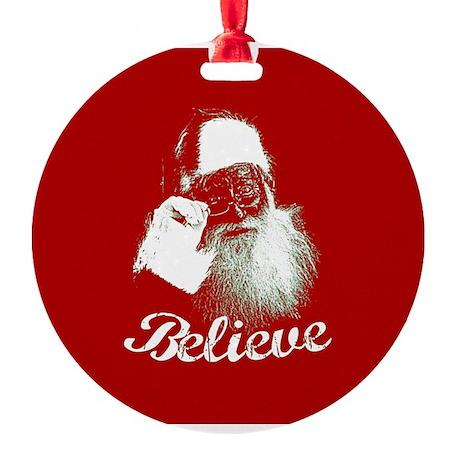 Santa Claus Believe Ornament