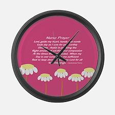 Nurse Prayer Blanket PILLOW 2 Large Wall Clock