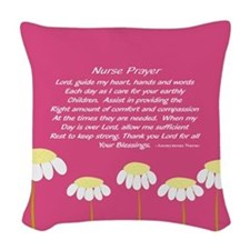 Nurse Prayer Blanket PILLOW 2 Woven Throw Pillow