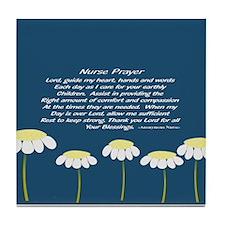 Nurse Prayer Blanket Pillow Tile Coaster