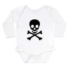Skull & Crossbones Long Sleeve Infant Bodysuit