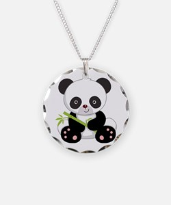 Cute Baby Bamboo Panda Necklace