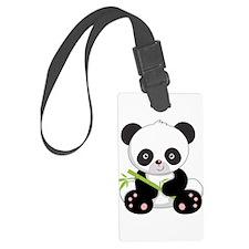 Cute Baby Bamboo Panda Luggage Tag