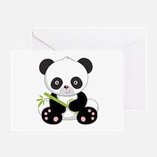 Cute Baby Bamboo Panda Greeting Card