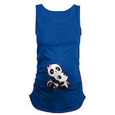 Cute Mom & Baby Panda Bears Maternity Tank Top