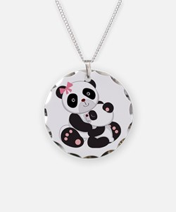 Cute Mom & Baby Panda Bears Necklace