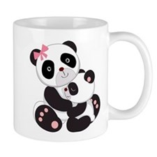Cute Mom & Baby Panda Bears Mug