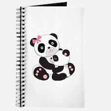 Cute Mom & Baby Panda Bears Journal