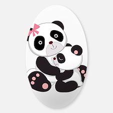 Cute Mom & Baby Panda Bears Decal