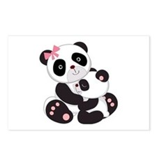 Cute Mom & Baby Panda Bears Postcards (Package of