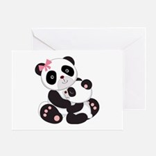 Cute Mom & Baby Panda Bears Greeting Card