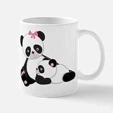 Cute Mom & Baby Panda Bears Mug
