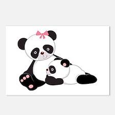 Cute Mom & Baby Panda Bears Postcards (Package of