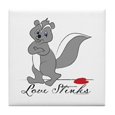 Love Stinks Tile Coaster