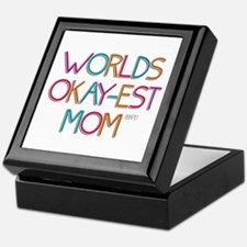 Worlds Okay-est Mom Keepsake Box