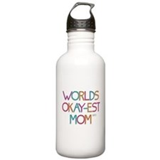 Worlds Okay-est Mom Water Bottle