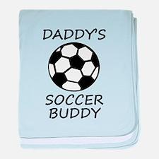 Daddys Soccer Buddy baby blanket