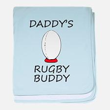 Daddys Rugby Buddy baby blanket