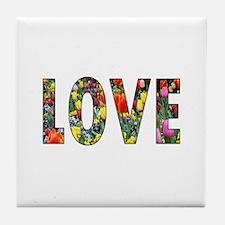 Love & Flowers Tile Coaster