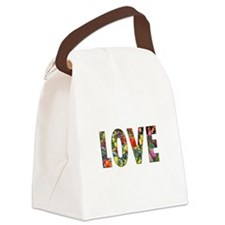 Love & Flowers Canvas Lunch Bag