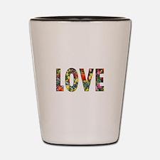 Love & Flowers Shot Glass