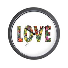 Love & Flowers Wall Clock