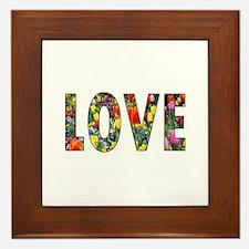Love & Flowers Framed Tile