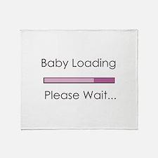 Baby Loading Please Wait Status Bar Throw Blanket