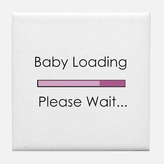 Baby Loading Please Wait Status Bar Tile Coaster