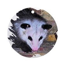 Virginia Opossum Ornament (Round)
