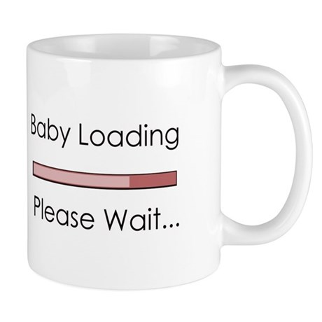 Baby Loading Please Wait Status Bar Mug
