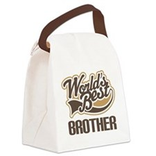 Worlds Best Brother Canvas Lunch Bag