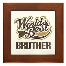 Worlds Best Brother Framed Tile