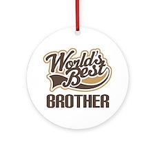 Worlds Best Brother Ornament (Round)