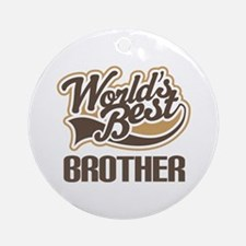 Worlds Best Brother Ornament (Round)