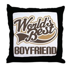 Worlds Best Boyfriend Throw Pillow