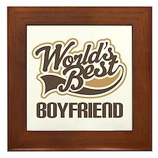 Worlds Best Boyfriend Framed Tile