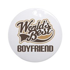 Worlds Best Boyfriend Ornament (Round)
