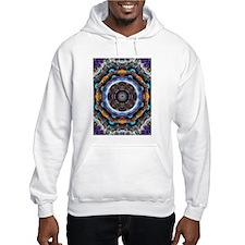 Reflective Fractal Mandala Hoodie