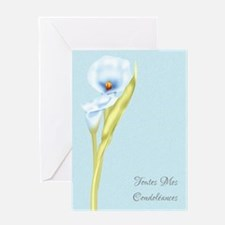 Toutes Mes Condoleances French Sympathy Card